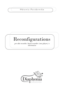 RECONFIGURATIONS per alto recorder, basso recorder (one player) e electronica [DIGITALE]